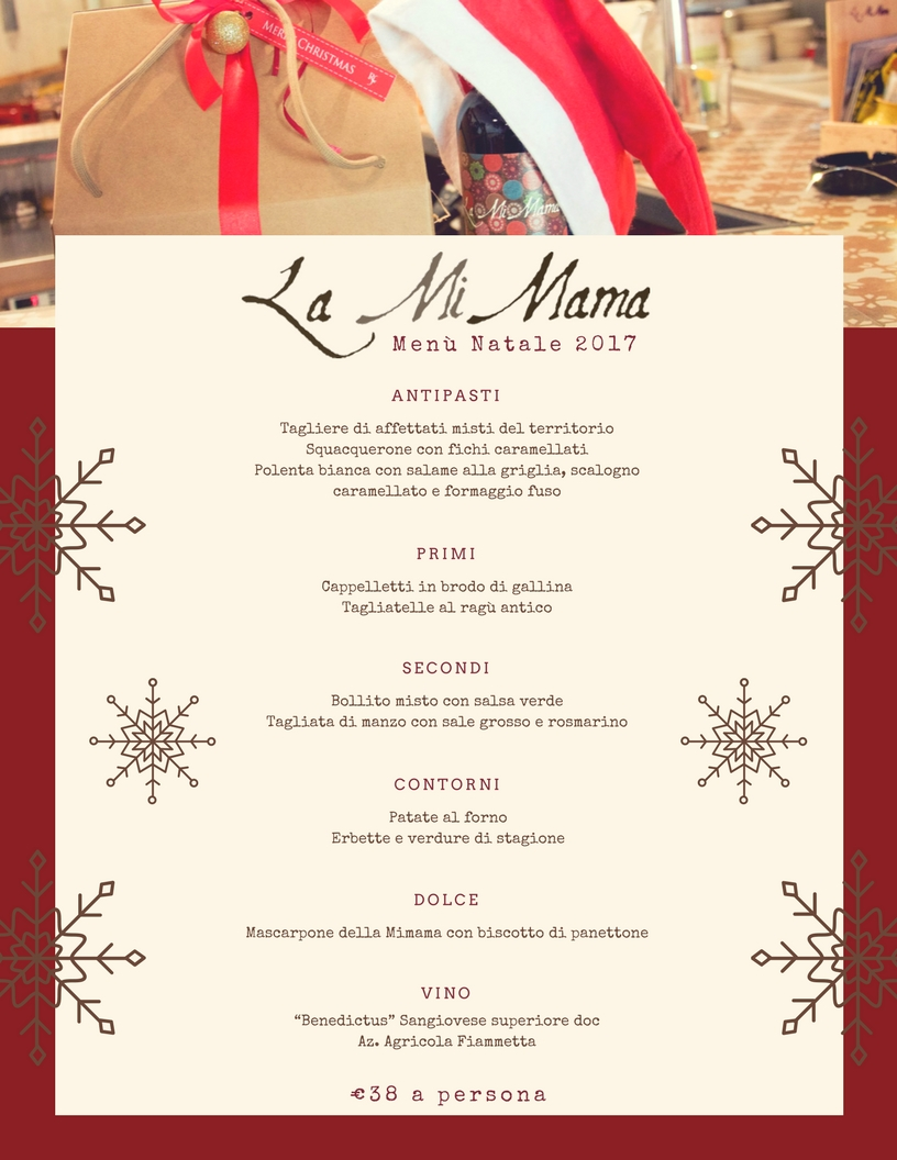 La Mi Mama Rimini Menù Natale 2017